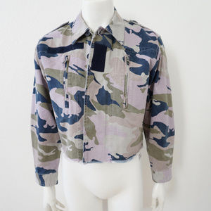 NWT. ZADIG & VOLTAIRE PINK CAMOUFLAGE JACKET